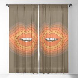 Pop Lips - Golden Sheer Curtain