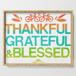 Thankful, Grateful & Blessed 2 Serving Tray