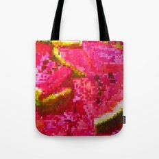 Watermelon on pixel (watercolor) Tote Bag