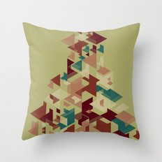 Bunch of shapes Throw Pillow