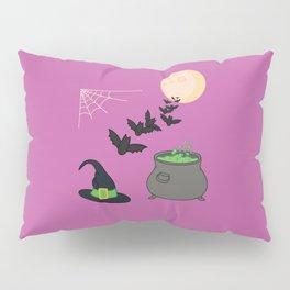 Halloween illustration purple Pillow Sham