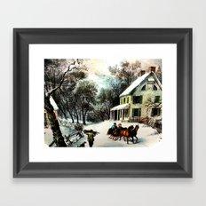 Winter In Old Virginia  Framed Art Print