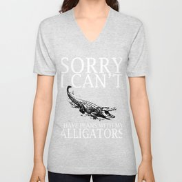 Alligators Funny Tshirt Unisex V-Neck