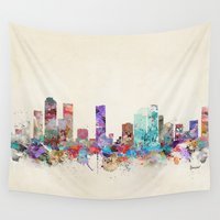 denver Wall Tapestries featuring denver colorado skyline by bri.buckley