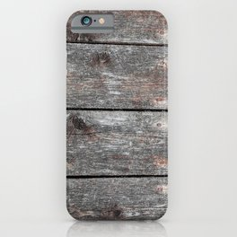 Wood grain II landscape iPhone Case