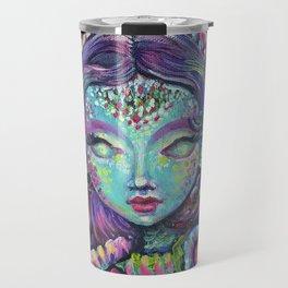 Indigo Mermaid Explore - Kids, fantasy, mermaids by Lana Chromium Travel Mug