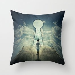keyhole in the wall Throw Pillow