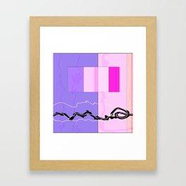 Squares combined no. 9 Framed Art Print