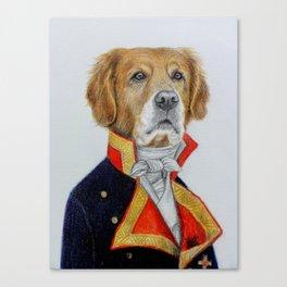 dog king Canvas Print