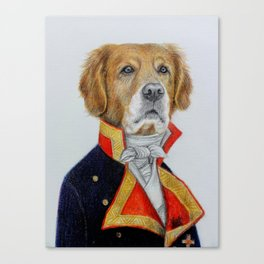 dog king Canvas Print