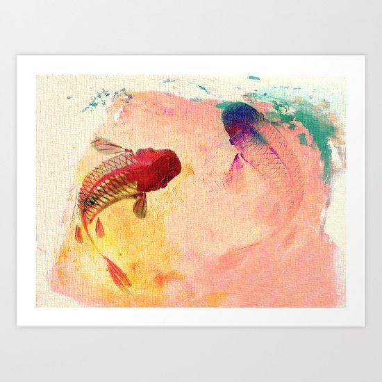 Canvas Koi Art Print