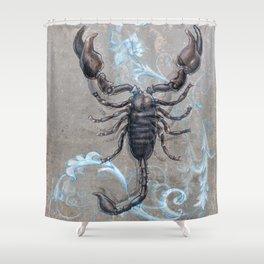 The black scorpion Shower Curtain