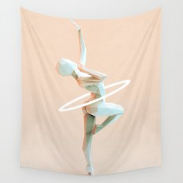 Origami Dancer Wall Tapestry