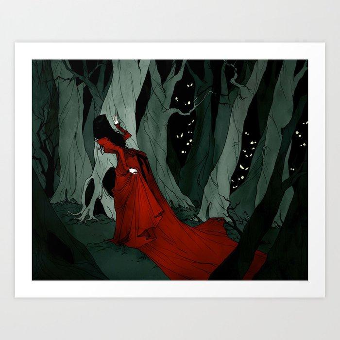 Snow White Lost in the Woods Kunstdrucke