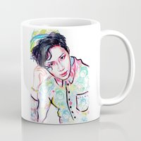 shinee Mugs featuring SHINee Taemin Colorful by sophillustration