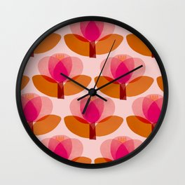 Abstraction_FLORAL_01 Wall Clock