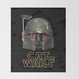 Boba Cat Wars Throw Blanket