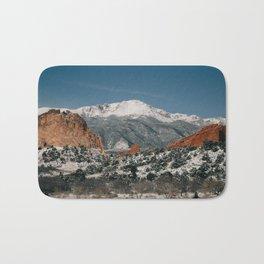 Snowy Mountain Tops Bath Mat
