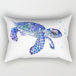 Cute Blue Baby Sea Turtle Rectangular Pillow