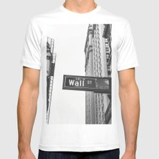 Wall street bw MEDIUM White Mens Fitted Tee