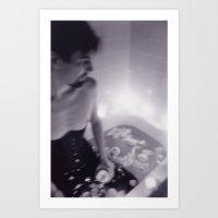 Serge #12 Black and White Ophelia Photo Series Art Print