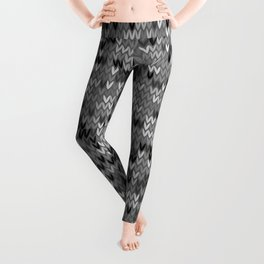 Heathered knit textile 4 Leggings