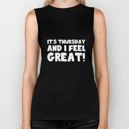It's Thursday Biker Tank