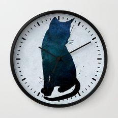 Dark Cat Wall Clock