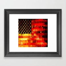 God Blesses the American Flag Framed Art Print