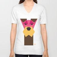 schnauzer V-neck T-shirts featuring Miniature Schnauzer by Page 84 Design
