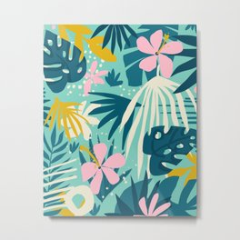 Not All Those Who Wander Are Lost #painting #tropical Metal Print
