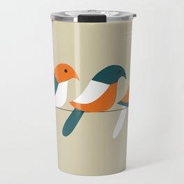 Birds on wire Travel Mug
