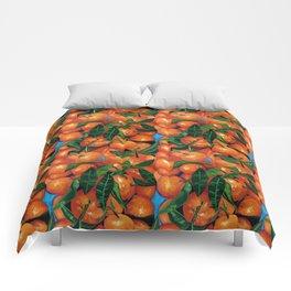Florida Oranges Comforters