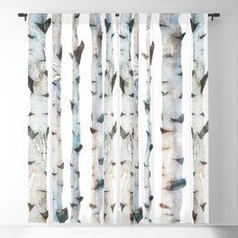 Birch Tree forest Blackout Curtain