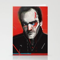 quentin tarantino Stationery Cards featuring Quentin Tarantino by Zaneta Antosik