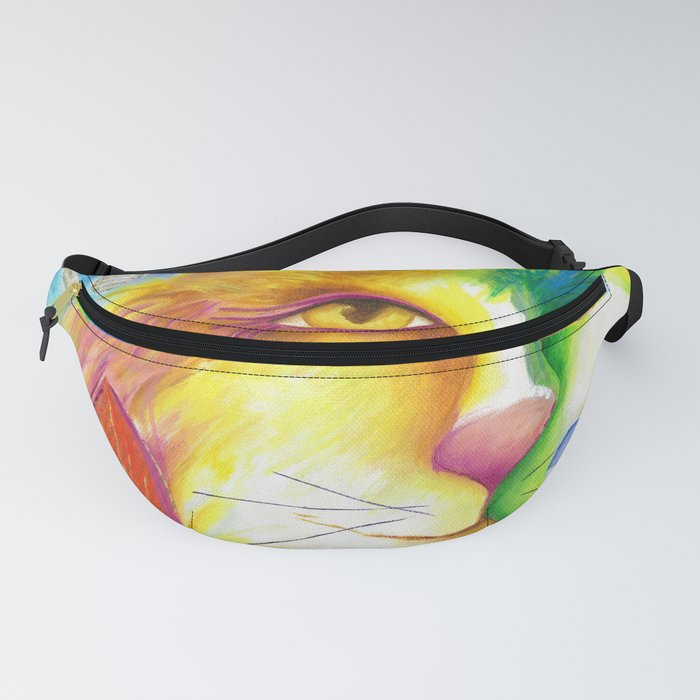 Cat abstract bird Original Painting Deb Harvey art Fevrier Chat  Fanny Pack