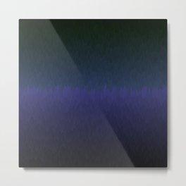Black navy purple ombre flames Metal Print