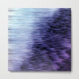 Offshore We Go Purple Glitch Pattern Metal Print