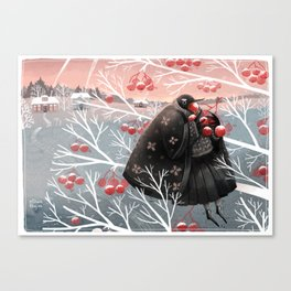 Winter meal Canvas Print