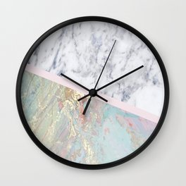 Whimsical marble fantasy Wall Clock