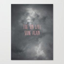 The sun will shine again – pink Canvas Print
