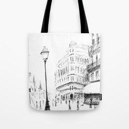 Sketch of a Street in Paris Tote Bag