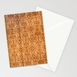 Oversized Vintage Turkish Oushak Carpet Print Stationery Cards