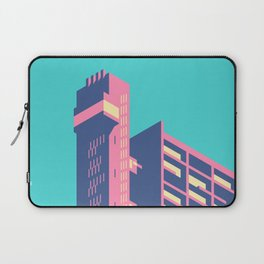 Trellick Tower London Brutalist Architecture - Plain Sky Laptop Sleeve