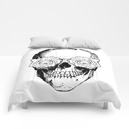 Skull and Roses | Black and White Comforters