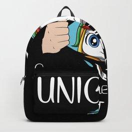 Cute Unicorn Funny Saying Pretty Rainbow Colors Fairytale Backpack