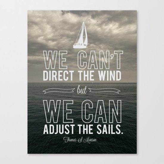 Adjust the sails Canvas Print