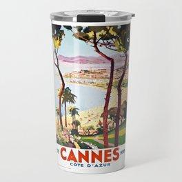 1938 France Cannes Cote D'Azur Travel Poster Travel Mug