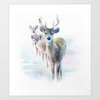 holiday Art Prints featuring holiday by tatiana-teni