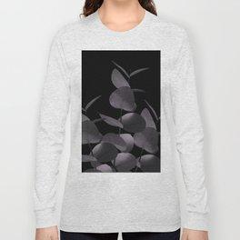 Eucalyptus Leaves Black Black #1 #foliage #decor #art #society6 Long Sleeve T-shirt